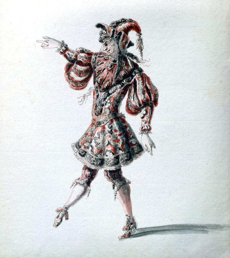 De 'Betoverde held' uit Lully's opera 'Amadis'. Beeld Print Collector/Getty Images