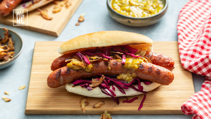 Wat Eten We Vandaag: Hotdog met joppie & perrysaus