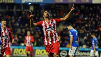 Diego Costa mist rentree bij Atletico Madrid niet: spits vijf minuten na invalbeurt al trefzeker