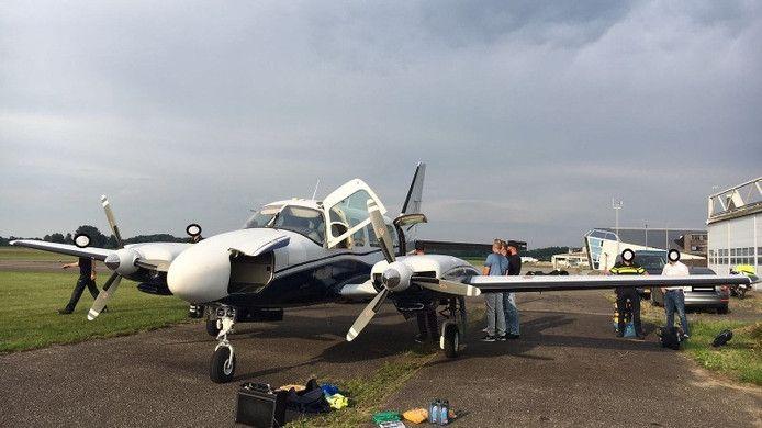 Het vliegtuig werd in Teuge aan de grond gehouden.