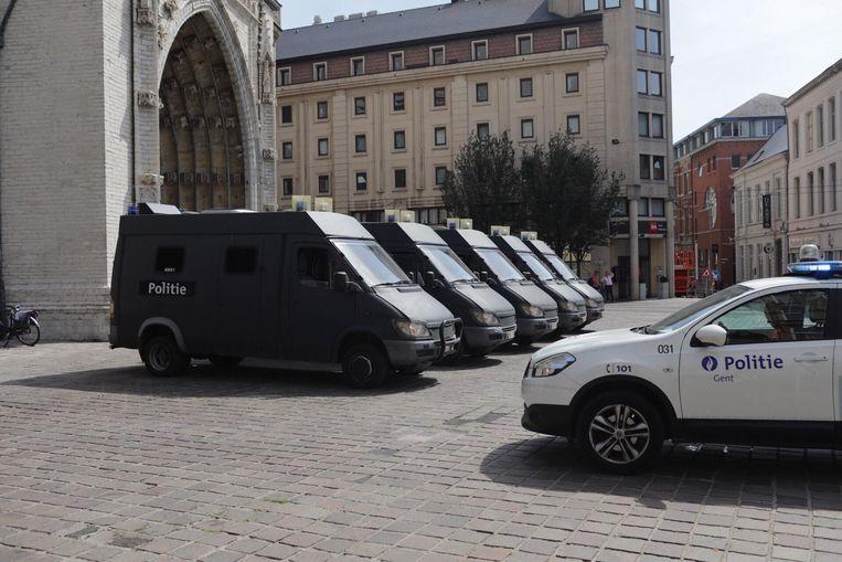 De wagens in Gent-Centrum.