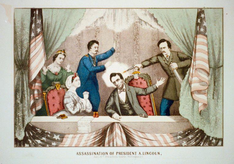 John Wilkes Booth, aanhanger van de Zuidelijke Staten, schoot  op 14 april 1865 Abraham Lincoln neer tijdens een voorstelling in het Ford's Theatre in Washington DC. De zittende president overleed een dag later aan de verwondingen.