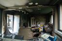De woning van Kimmy Hofinger liep brandschade op