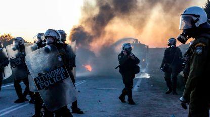 Confrontaties tussen politie en bewoners op Lesbos en Chios, bij protest tegen bouw nieuwe migrantenkampen