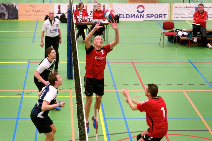 De volleyballers van Rebelle verloren van AVV Keistad in de eerste divisie. Archieffoto Marc Pluim