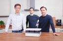 Vlnr.: Anton Claeys, Steven Debaere en Jeroen Spitaels leerden elkaar kennen aan de Vlerick Business School naast de Reep.