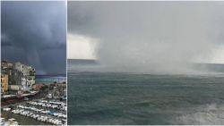 Indrukwekkende waterhoos gefilmd bij Corsica