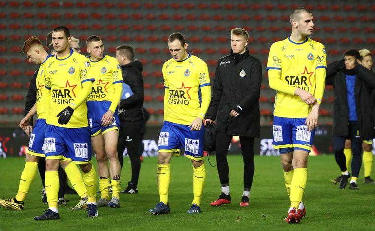 Waasland-Beveren verliest op Moeskroen op de 29ste speeldag.