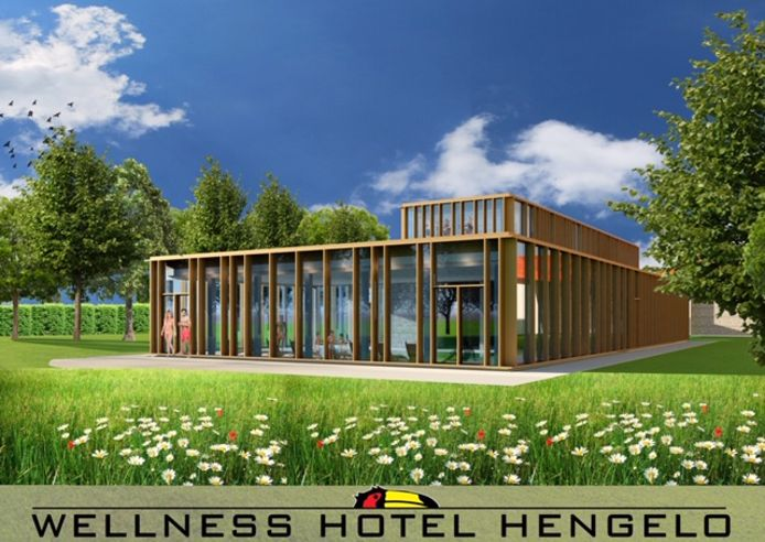 Komend voorjaar moet het nieuwe wellness-complex van Hotel Hengelo klaar zijn.klaar zijn.