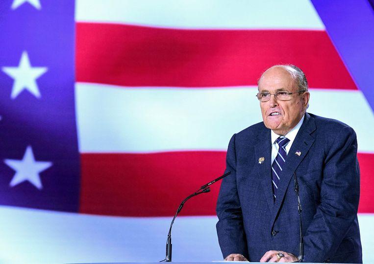 Rudy Giuliani, voormalige burgemeester van New York en nu advocaat van Donald Trump. Beeld AFP