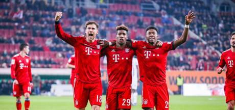 Bayern München herstelt zich knap in Augsburg