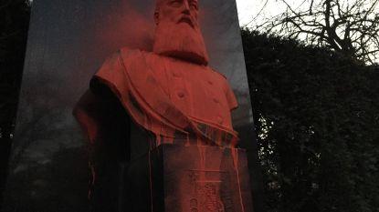 Leopold II ziet vierde keer rood: vandalen blijven buste besmeuren