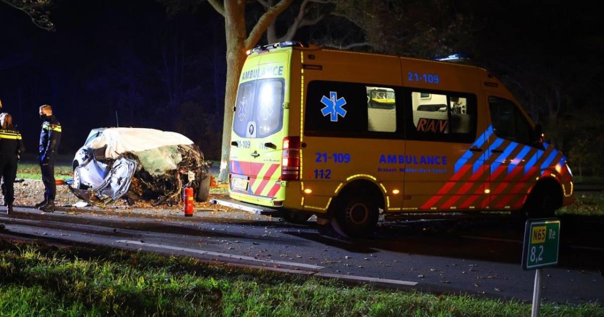 Dodelijk ongeval op de N65 tussen Vught en Helvoirt.