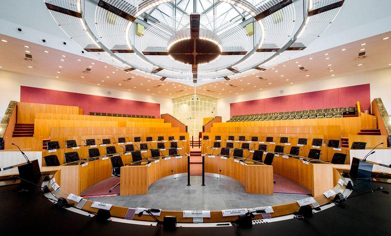De raadzaal in het stadhuis van Amsterdam. Beeld ANP