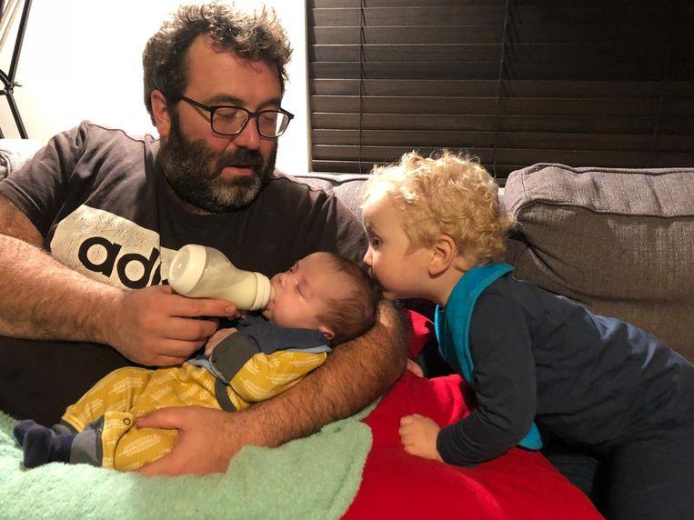 Wannes heeft naast dochter Lou ook al een zoontje.
