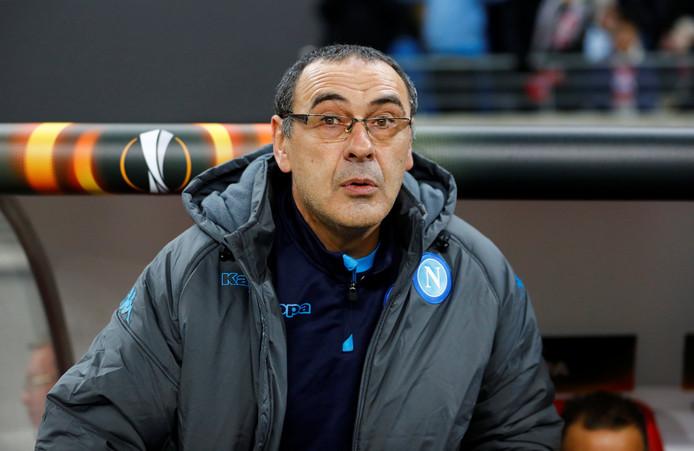 Maurizio Sarri als coach van Napoli.