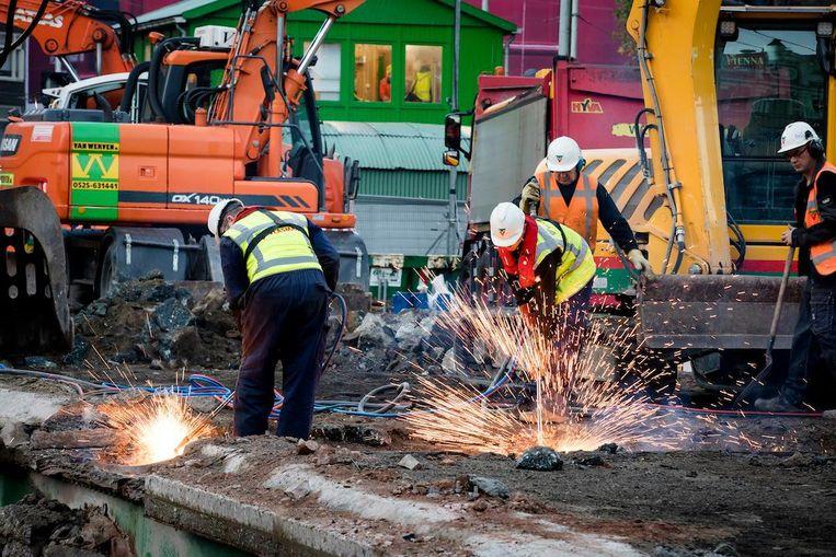 Grotenhuis: 'Nog voor de kerst zal de bouwplaats op het hart van het plein zijn verdwenen' Beeld ANP