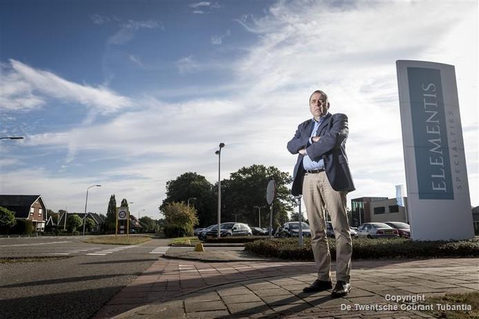 Directeur Jan Boon van chemiefabriek Elementis in Delden.