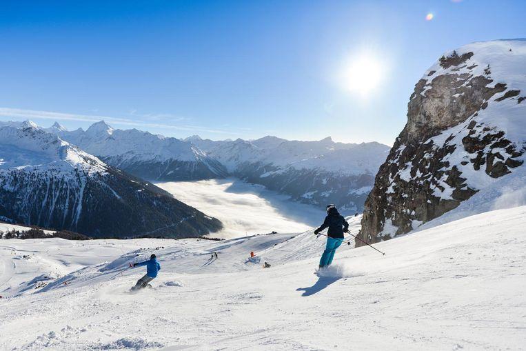 St-Luc, Zwitserland Beeld Finn Brouwers