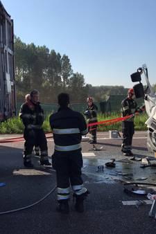 Ongeval met drie vrachtwagens op A67 bij Geldrop; weg is weer open, toerit nog afgesloten