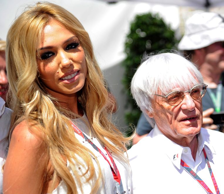 Petra en Bernie Ecclestone, foto uit 2011.