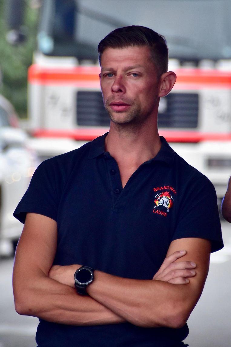 Vrijwillig brandweerman Kevin Dosquet.