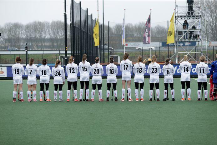 De hockeysters van Amsterdam afgelopen winter.