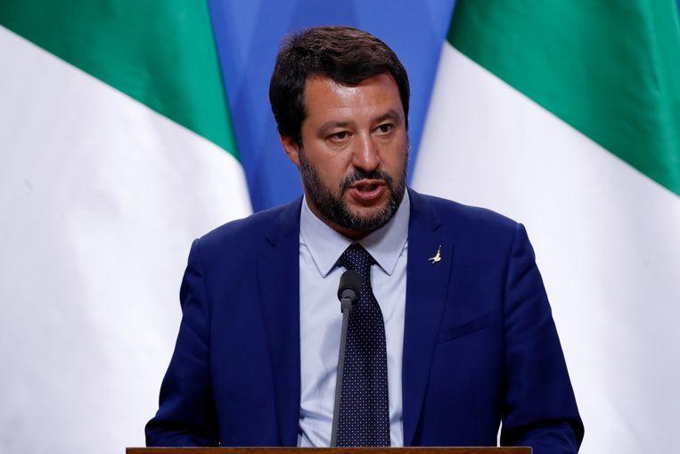 Italiaans minister van Binnenlandse Zaken Matteo Salvini