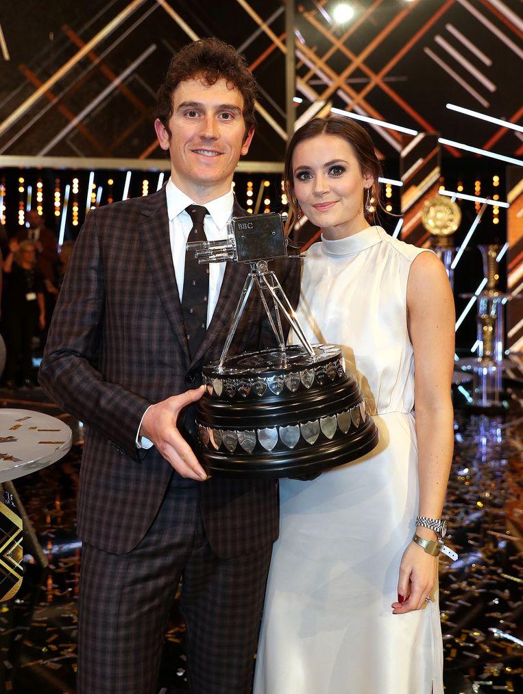 Geraint met zijn vrouw Sara Elen Thomas in Birmingham.