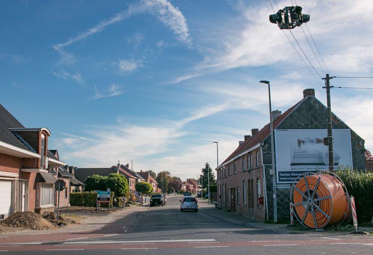 Het kruispunt van de Nauwstraat en Gentstraat.