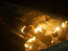 Weer brand op pleintje in Kaatsheuvel, waarschijnlijk aangestoken