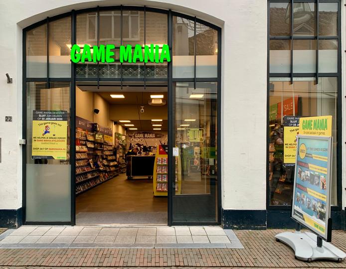 De vestiging van Game Mania in Deventer sluit op 25 januari.