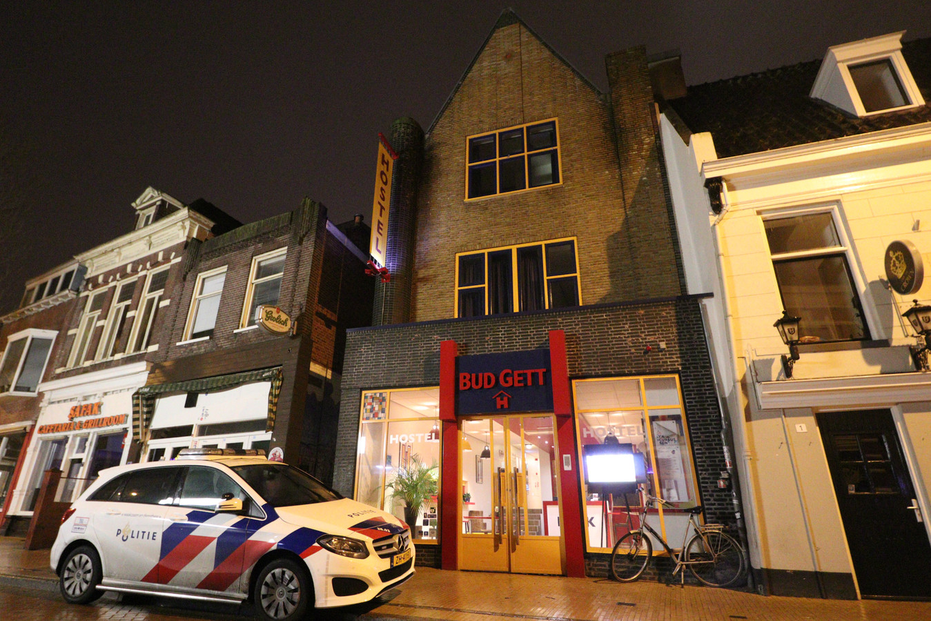 Een hostel in Groningen werd vanmorgen overvallen.
