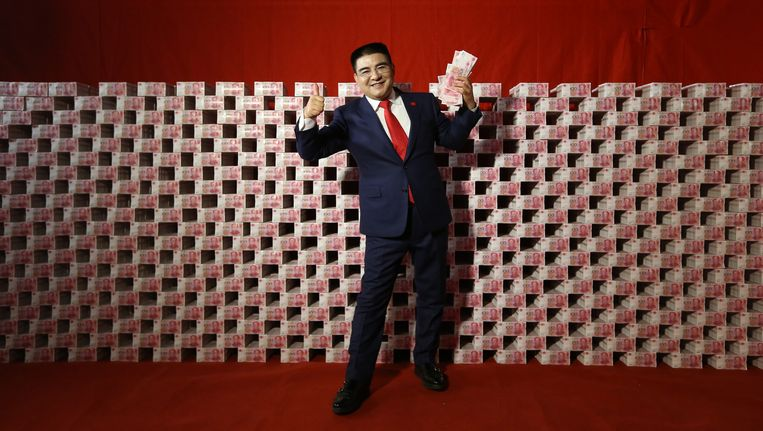 De Chinese miljonair Chen Guangbio. Beeld getty