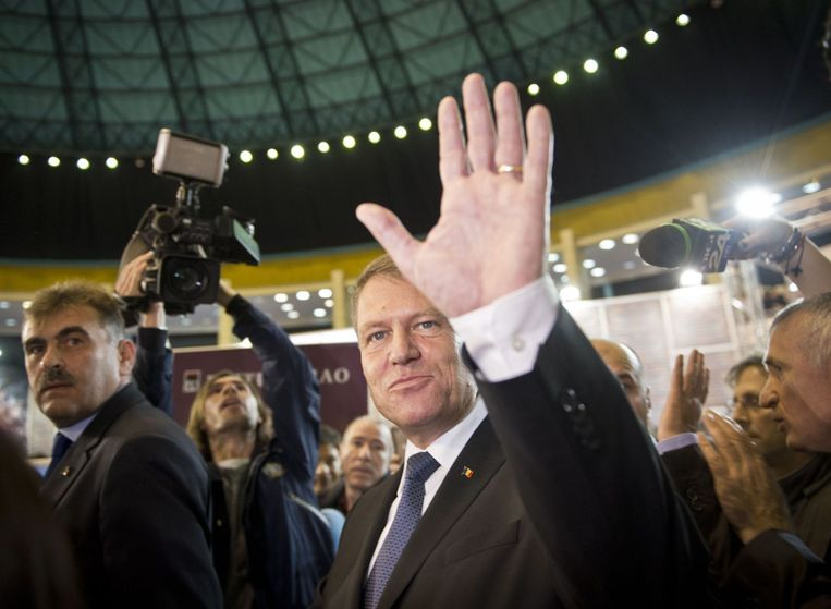 De nieuwe president van Roemenië, Klaus Iohannis. Beeld afp