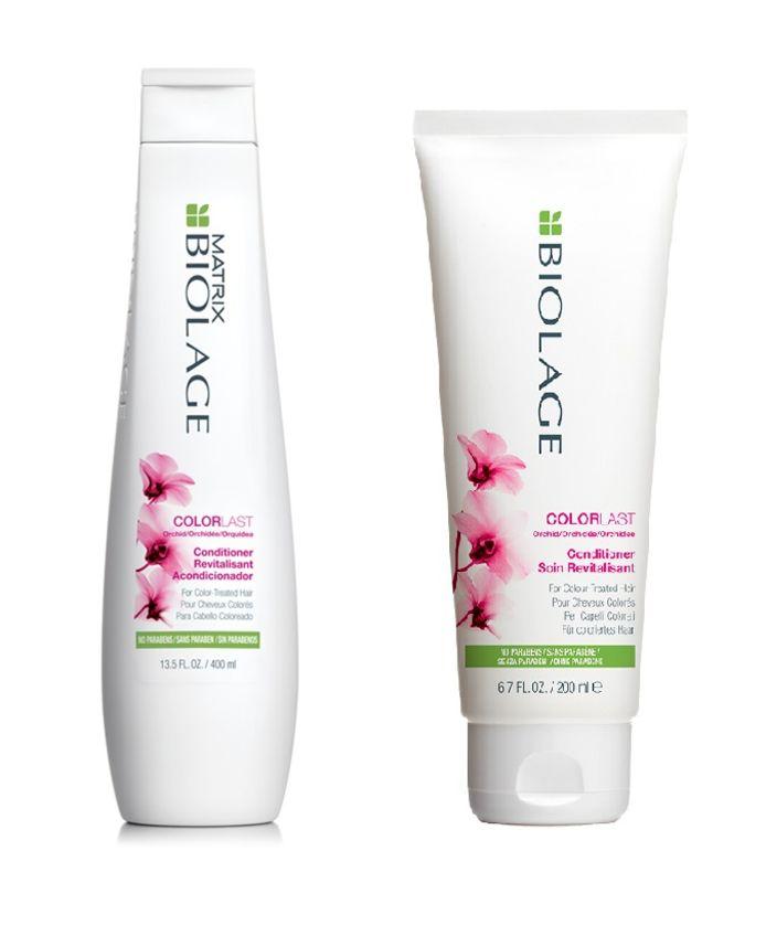 Le shampoing et l'après-shampoing ColorLast de Biolage.