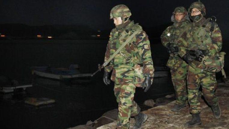 Het Zuid-Koreaanse leger wil de reactie op een Noord-Koreaanse aanval trainen. Foto ANP Beeld