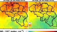 Satellietbeelden tonen sterk verbeterde luchtkwaliteit boven België tijdens lockdown