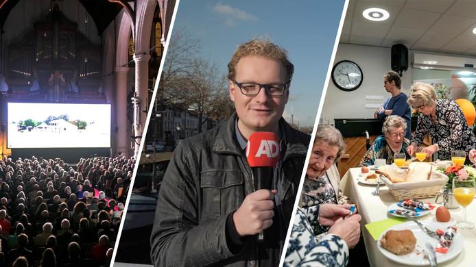 Morgen in de Week van de Waterweg: verslaggever Tjerk luncht mee met ouderen in verzorgingshuis Soenda in Vlaardingen.