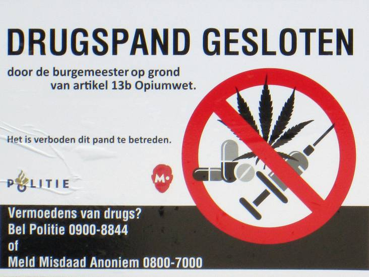 Burgemeester Niederer sluit woning Frans Halslaan Roosendaal na vondst drugs