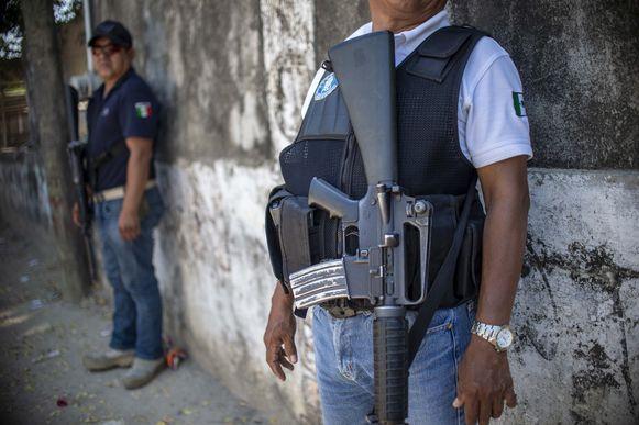 Een politieagent in Mexico.
