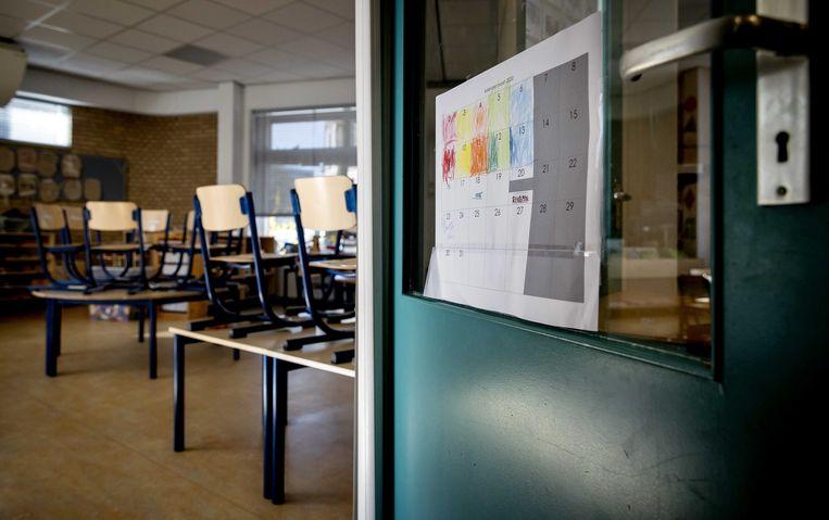 Lege klaslokalen op een basisschool.  Beeld ANP