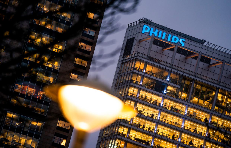 Het kantoor van Philips in Amsterdam. Het bedrijf verloor deze week een zaak om een patent op nummertoetsen. Beeld Freek van den Bergh / de Volkskrant
