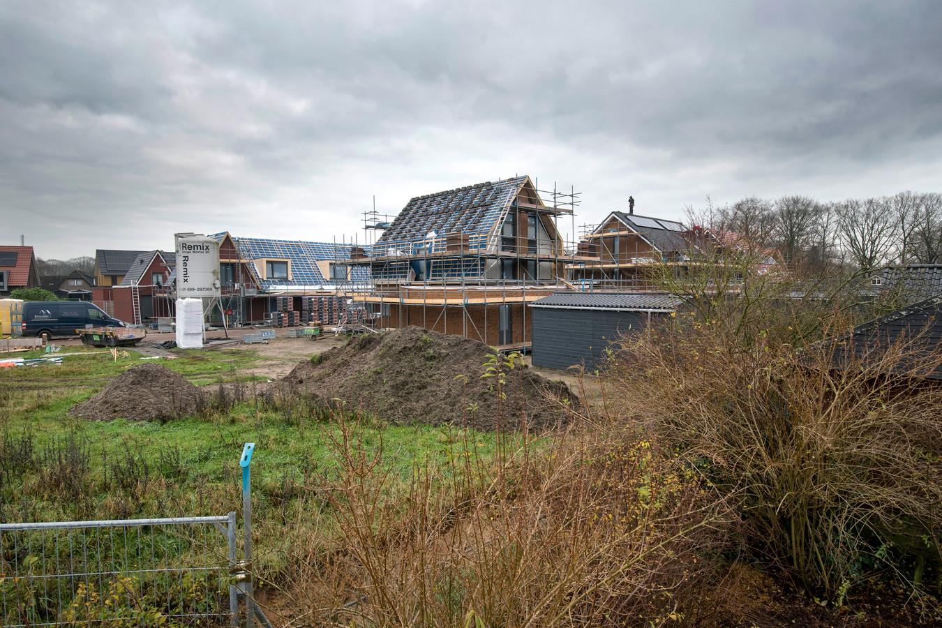 Reinbouw is inmiddels toch begonnen met de bouw van woningen in het zuidwestelijk deel van het gebied.