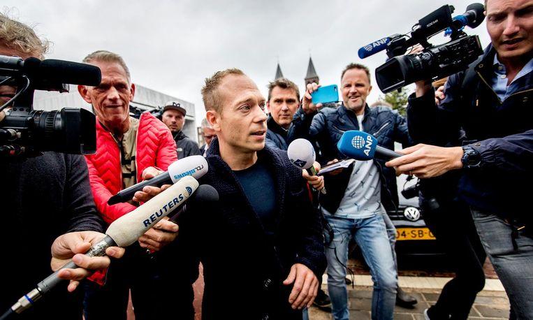Turner Yuri van Gelder bij de rechtbank voor het kort geding dat hij aanspande nadat hij werd weggestuurd in Rio de Janeiro. Beeld anp