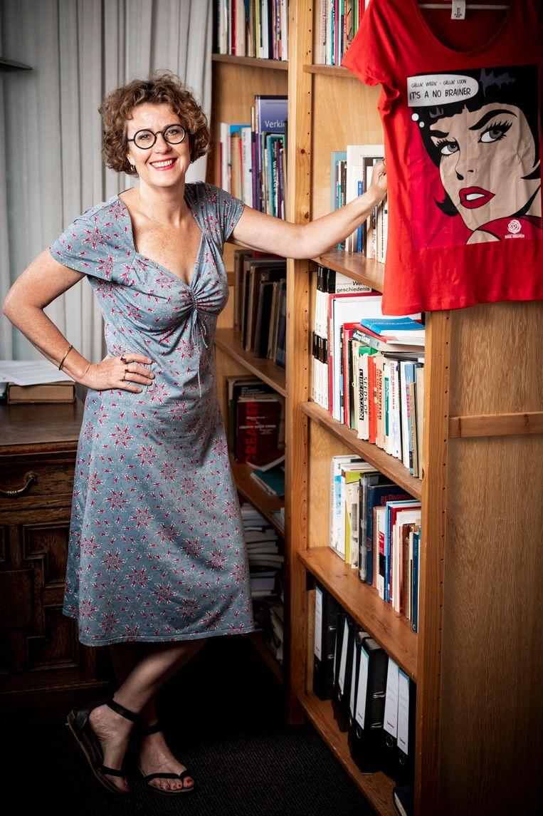 Klara Boonstra, directeur van de Wiardi Beckman Stichting, het wetenschappelijke bureau van de PvdA. Beeld Freek van den Bergh/de Volkskrant
