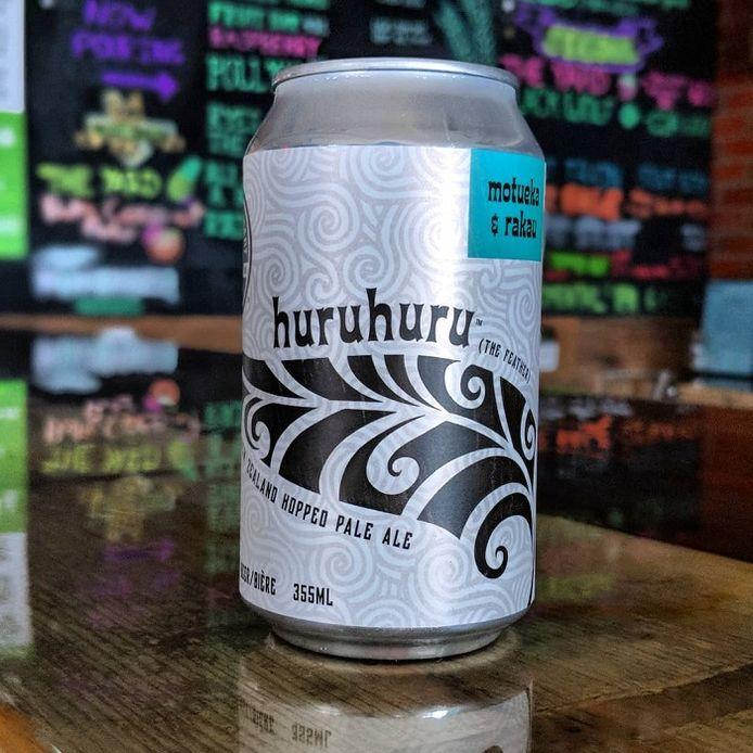 Een blikje van het Huruhuru Pale Ale.