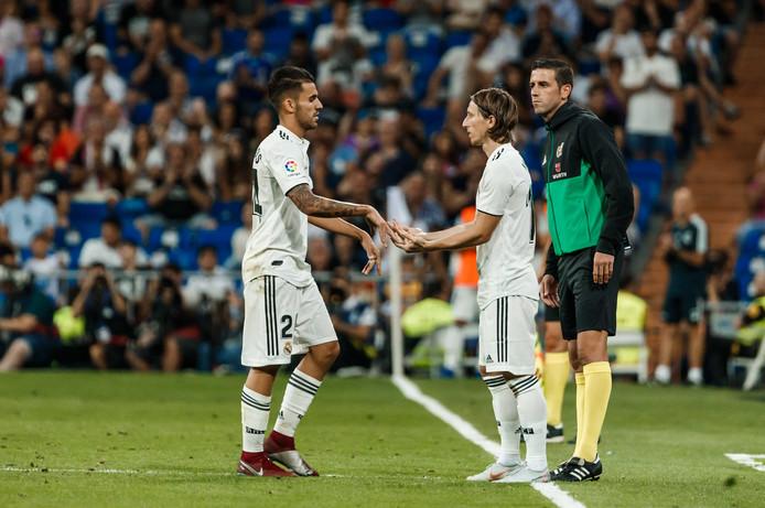Modric valt in bij Real Madrid tegen Getafe.