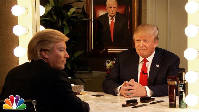 Jimmy Fallon als Trump. Beeld