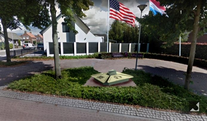 Impressie van het oorlogsmonumentje in Zegge